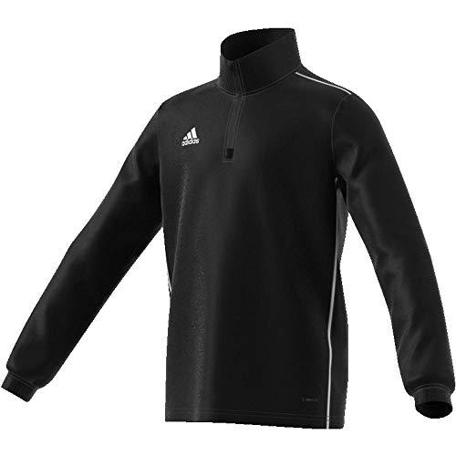 adidas Kinder CORE18 TR Y Sweatshirt CORE18 TR Y CE9028, Schwarz (Black/White), 140 (Herstellergröße: 140)