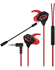 VersionTECH. Gaming Earbuds Wired with Dual Microphone, in-Ear Gaming Headset Headphones for PS5 PS4, Xbox One, Nintendo Switch, Xbox Series X|S, Playstation 4 5, Mobile Gaming 3.5MM Jack Earphones