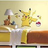 ahjs456 Pikachu Wall Sticker Autoadhesivo Pokemon Dibujos Animados De Pared Infantil Decorativo PVC Graffiti Pegatina