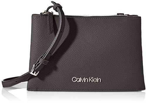 Calvin Klein Damen Sided Trio Crossbody Umhängetasche, Schwarz (Black), 1x1x1 cm