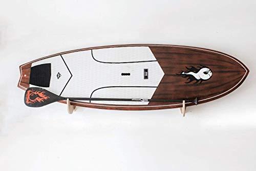 Regale aus ausgewähltem mehrschichtigem Marineholz für SUP-Tisch (Paddle Board) und Windsurf-Modell'Shark Tooth' mit Klingenhalterung