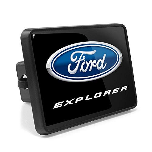 iPick Image, Compatible with - Ford Explorer UV Graphic Black Metal Face-Plate...
