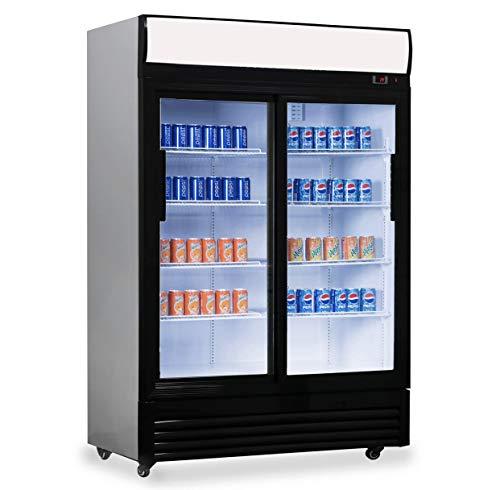 Flaschenkühlschrank, 1200 x 730 x 2135 mm, 2 Schiebetüren,