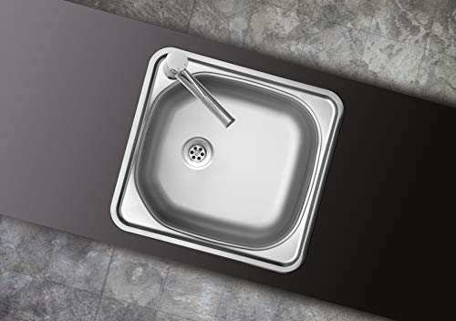 respekta Fregadero empotrable de 1 seno de acero inoxidable. Modelo: DALLAS465X435.