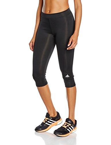 adidas Damen Caprihose Techfit, Black/Msilve, 2XS, AJ2256