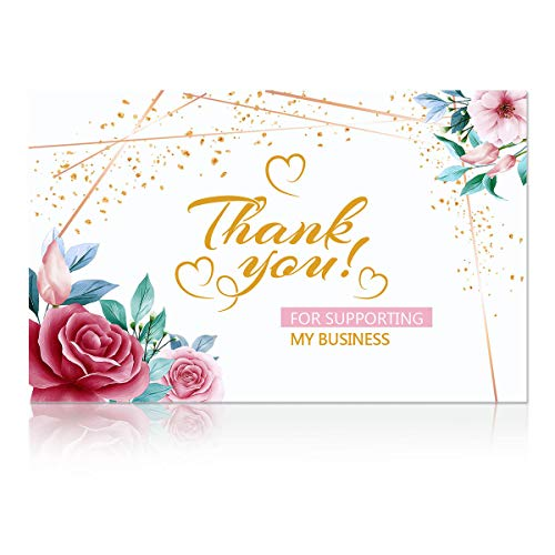 Thank You for Your Business Card Business Card Sized Blank Cards Elegant Floral DesignBusiness Cards Thank You for Supporting My Small Business Style 3