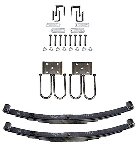 """Trailer Double Eye Spring Suspension and Single Axle Hanger Kit for 2 3/8"""" Tube - 3500 Pound Axle"""