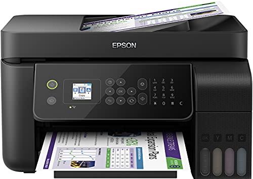 Epson EcoTank ET-L5190 4-in-1 Tinten-Multifunktionsgerät (Kopierer, Scanner, Drucker, Fax, DIN A4, ADF, WiFi, Ethernet, Display, USB 2.0), großer Tintentank, hohe Reichweite, niedrige Seitenkosten