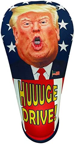 BeeJo s President Trump HUUUGE Drive Driver Golf Club Head Cover Large 460CC Made in The USA product image