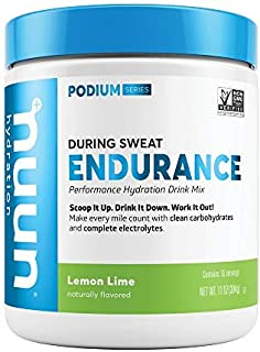 Nuun Endurance Workout Support Lemon Lime Electrolytes & Carbohydrates (16 Servings - Canister)