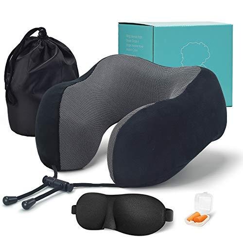 MSNLY El diseño ergonómico de la Almohada de Viaje/Almohada para el Cuello está Hecho de Terciopelo Suave y la Funda de Almohada extraíble y Lavable se Puede Usar oficinas o hogares.
