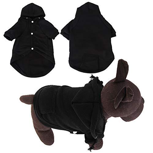 Hffheer Felpa con Cappuccio in Cotone per Animali Domestici Cappotto Invernale per Cani Caldo Morbido e Confortevole Gatto Abbigliamento Invernale per
