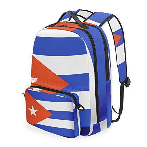 FANTAZIO Rucksäcke und Umhängetasche, Kuba-Flagge, Schulranzen-Set