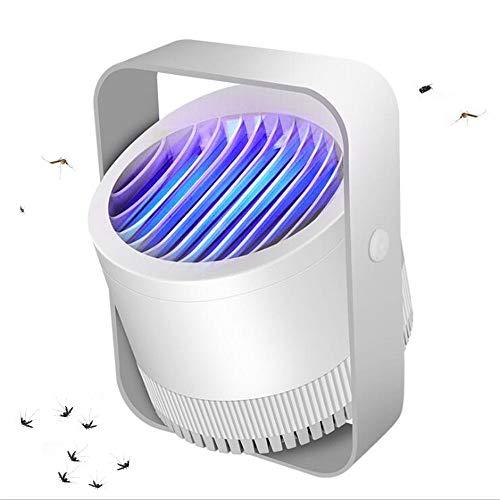 GAIGAI Tueur De Moustique Lampe, Inhalée Photocatalyse Violet LED Piège À Moustiques 360 ° Physique Moustiques Séchage À L'air Répulsif, Mosquito Safe Silencieux Powered USB-Killer,Blanc