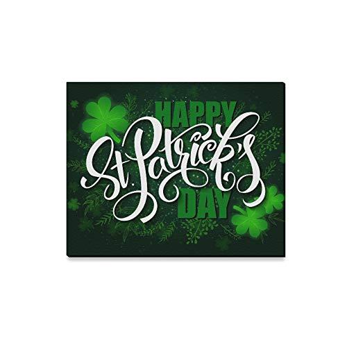 Rtosd Wandkunst Malerei Hand Schriftzug Saint Patricks Day Drucke Auf Leinwand Das Bild Landschaft Bilder Öl Für Zuhause Moderne Dekoration Druck Dekor Für Wohnzimmer