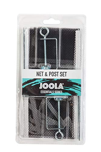 JOOLA Essentials Series Regulation Table Tennis Replacement Net and Post Set - Fits Standard Size Ping Pong Tables up to 2 inches