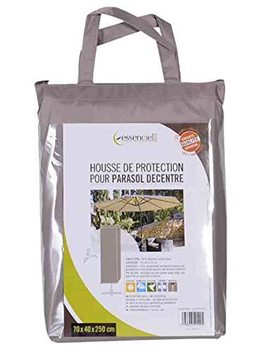 PEGANE Housse de Protection pour Parasol déporté Coloris Taupe - Dim : 40 x 70 x 250 cm