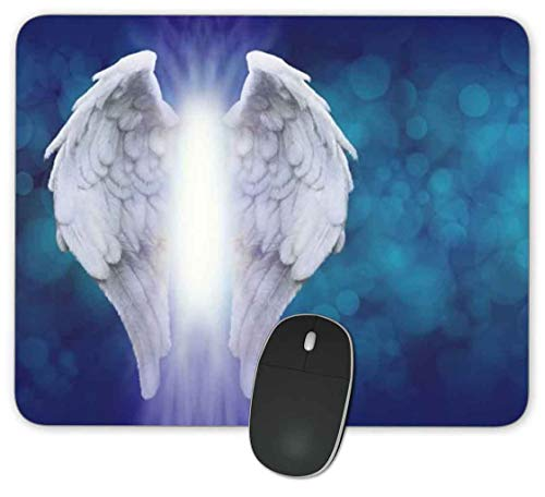 Rectangle Mouse Pad,Anti Slip Rubber Rectangle Angel Wings Mousepads Desktops Gaming Mouse Mat Customized Designed for Home and Office,9.45 x 7.9inches