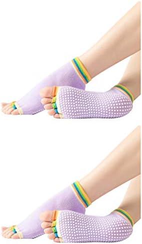 Yoga Socks for Women Non Slip Toeless Anti Skid Sticky Pilate Barre Ballet Dance Socks Home product image
