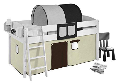 Vorhang Braun Beige - für Hochbett, Spielbett und Etagenbett