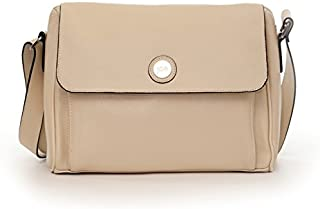 Jill-e Designs E-GO Leather Tablet Messenger, Vanilla (373526)