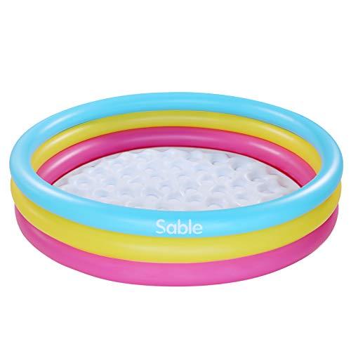 Sable SA-HF042 Aufblasbarer Pool, Mehrfarbige Swimmingpool rund für Kinder ab 3 Jahren, 147 x 33 cm Kinderpool für Garten und Outdoor