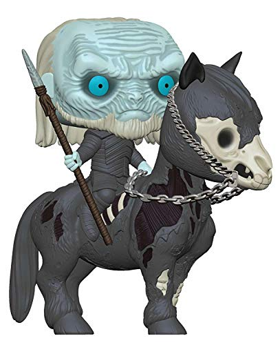 Funko - Pop! Rides: Game of Thrones S10 - White Walker on Horse Figura Coleccionable, Multicolor (37669)