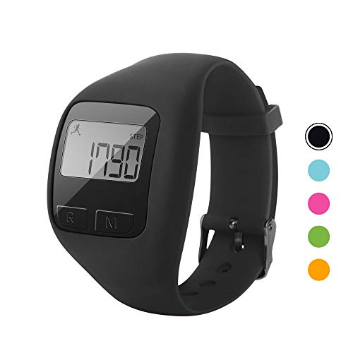 BATAUU Fitness Tracker, 3D Digital Watch Pedometer for Walking & Running, Simply Operation, Accurate Step Counter,Walking Distance Miles & Km, Calorie Counter, Activity Time(Black)
