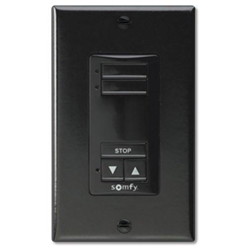 Somfy so181106X -so1811067Decoflex RTS sin interruptor de pared & # 44; 2Canal & # 44; Color negro
