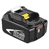 BL1860B 18V 5,5Ah Packs de batterie remplacement pour Makita BL1860B BL1850 BL1840 BL1830 BL1820 BL1815 BL1825 BL1835 BL1845 194204-5 196673-6 LXT-400