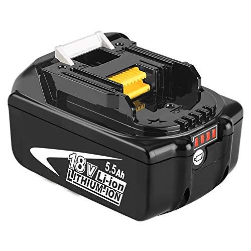 Moticett BL1860B 18V 5.5Ah Reemplazo de Batería de para 18v Batería BL1850B BL1850 BL1860B BL1860 BL1840 BL1835 BL1830 BL1815 LXT-400 con indicador