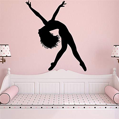 Pegatinas de pared de bailarines divertidos, pegatinas de pared para decoración del hogar, pegatinas de pared mural para decoración de habitación de niños y bebés A9 XL 57x66cm