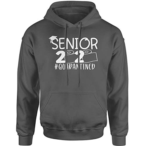 Expression Tees Hoodie Seniors 2020 Quarantined Toilet Paper Adult Large Charcoal Grey