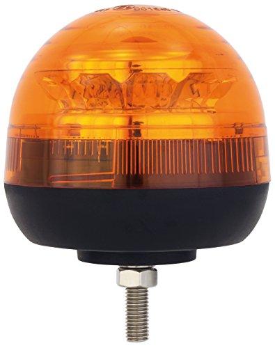 AdLuminis LED Rundumleuchte Orange Mit Aufschraubsockel M12 Gewinde, 12V und 24V Spannung, Blinkleuchte Warnleuchte Für Straßenverkehr KFZ