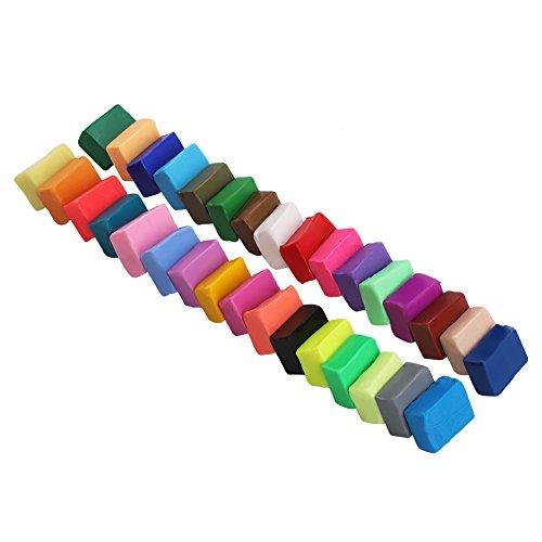 Jiawu Kit de Modelado de Manualidades Suaves para Bricolaje Modelado para Hornear en Horno, Arcilla para Hornear en Horno con 5 Herramientas para Esculpir Arcilla para Hornear en Horno, para