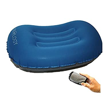 Trekology ALUFT Comfort Ultralight Inflating Travel/Camping Air Pillows (deep Blue)