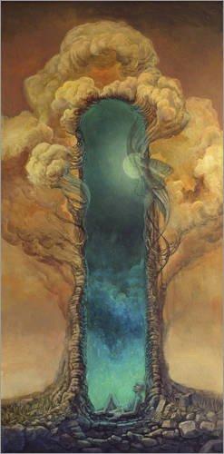 Poster 80 x 160 cm: Traumportal II von Stefan Bleyl - hochwertiger Kunstdruck, neues Kunstposter