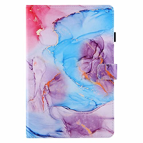 Miagon Tablet Cover for Samsung Galaxy Tab A7 Lite 8.7 T200 T225,PU Leather Flip Wallet Case with Stand Function Shockproof,Blue Marble