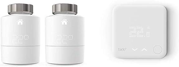 tado° Cabezal Termostático Inteligente - Pack Duo, Accesorio para Control de Habitaciones múltiples + Termostato Intelige...