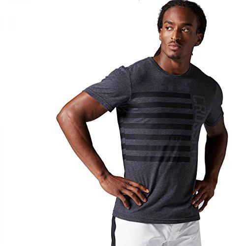 Reebok RCF Stars & Stripes T-Shirt Herren, Herren, RCF Stars&Stripes T, Black (schwarz), XXS