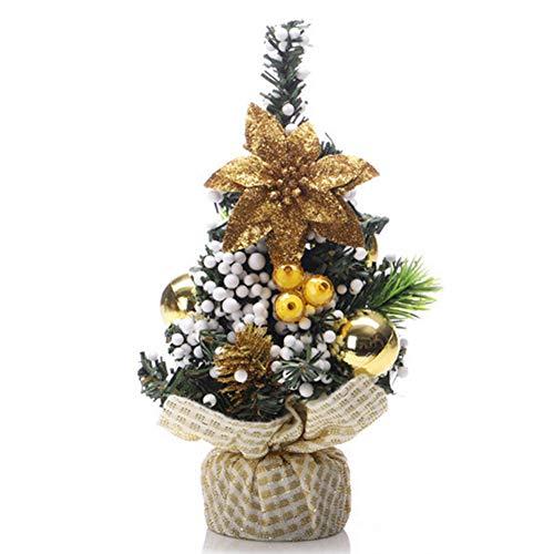 DDG EDMMS la decoración del Partido decoración del árbol de Mini Tabla del árbol de Navidad Mesa Artificial Adorno de Fondo de Oro