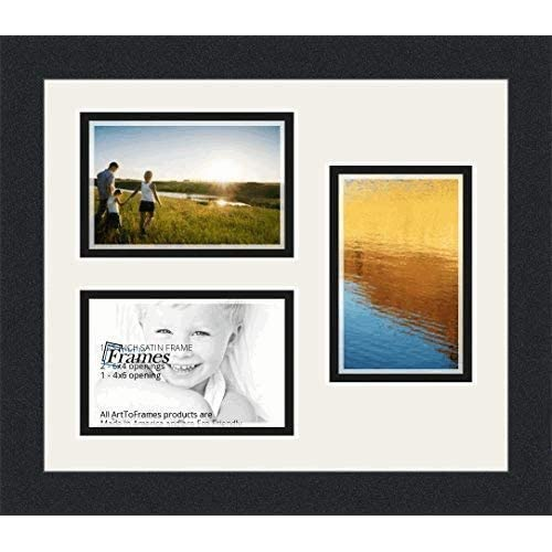 Amazoncom Arttoframes Collage Photo Frame Double Mat With 3 4x6