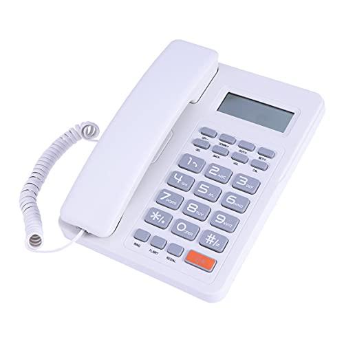 BESPORTBLE Teléfono Fijo con Cable Teléfono de Oficina de Negocios Teléfono Fijo Pantalla LCD Llamador ID Teléfono para Oficina Hotel Hogar Hospital
