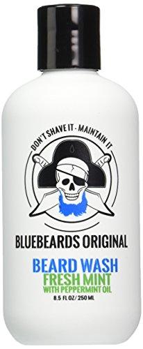 Bluebeards Original Fresh Mint Beard Wash with Peppermint Oil, 8.5 Fl Oz
