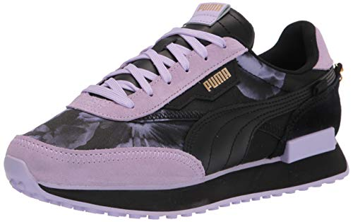 PUMA Women's Future Rider Sneaker, Black Black-Light Lavender, Numeric_11