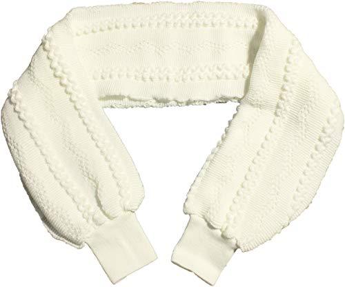 Kranz Damen Bettschal gestrickt mit Bündchen Nachtwäsche weich (weiß)