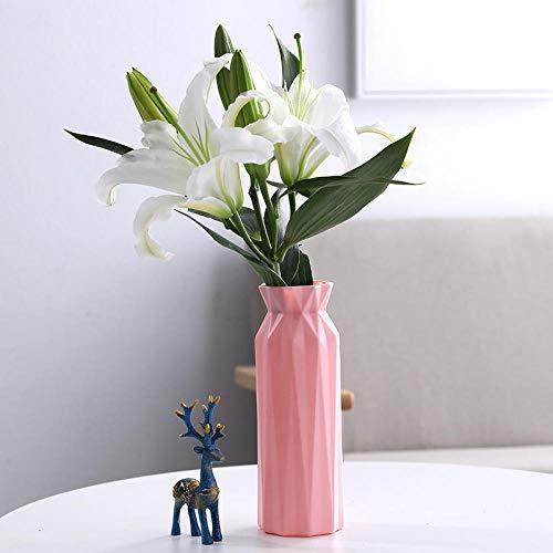 Vase Kunststoffvase Geometrische Origami Blumenvase Blumentopf Blumenkorb Dekoration Home Decoration -B3