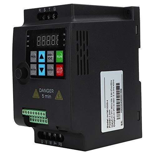 Convertidor de frecuencia, 2.2kw 380V Entrada y salida trifásica Mini motor universal VFD Convertidor de frecuencia Inversor Convertidor de frecuencia VFD Variador Variador de velocidad del motor