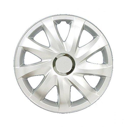 Enjoliveurs DRIFT GRIS LAQUÉS compatible - Peugeot - Citroen - Renault ; 4 pcs (16\