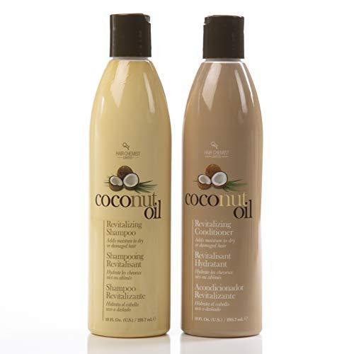 Hair Chemist Coconut Oil Revitalizing Shampoo 10 oz. & Conditioner 10 oz. (Combo Deal) by Hair Chemist